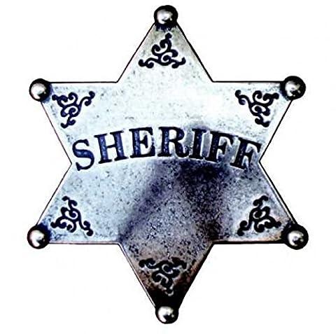 Denix shérif badge shérif de cowboy gris