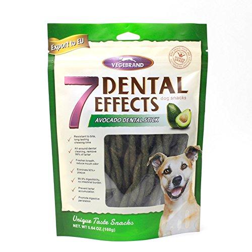 7 Effects Avocado Dental Sticks, praktischer und gesunder Kausnack für Hunde, 15 Stück (1 x 160 g) (Stick Dental)