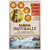 Iams Naturally Lachs, Nassfutter mit Lachs für erwachsene Katzen, Probiergröße, Einzelbeutel (1 x 85 g)