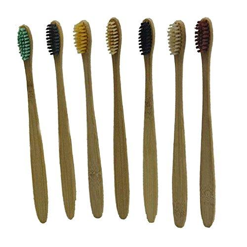 Preisvergleich Produktbild Zerama Einweg-Zahnbürsten Bambus Griff Zahnbürste Nylonborsten Zahnbürste für Home Hotel