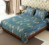 Amethyst Leaves Cotton Double Bedsheet w...