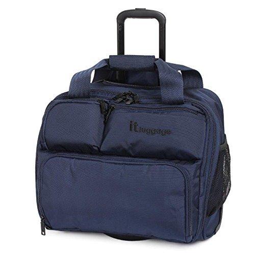 it luggage unter Sitz 2 Rad Case Handgepäck Koffer - Blau, Small - 34 x 39 x 20 cm - 2.14 kg