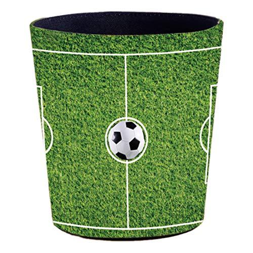 nder mit Motiv Fußballfeld, 10L Papierkörbe Kinderzimmer aus Leder, Wasserdicht, ohne Deckel ()