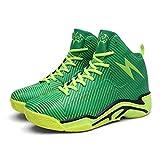 FHTD Zapatillas De Baloncesto Para Hombre 2018 Nuevas Zapatillas Respirables Botas De Amortiguación Resistentes Al Desgaste,Green,42