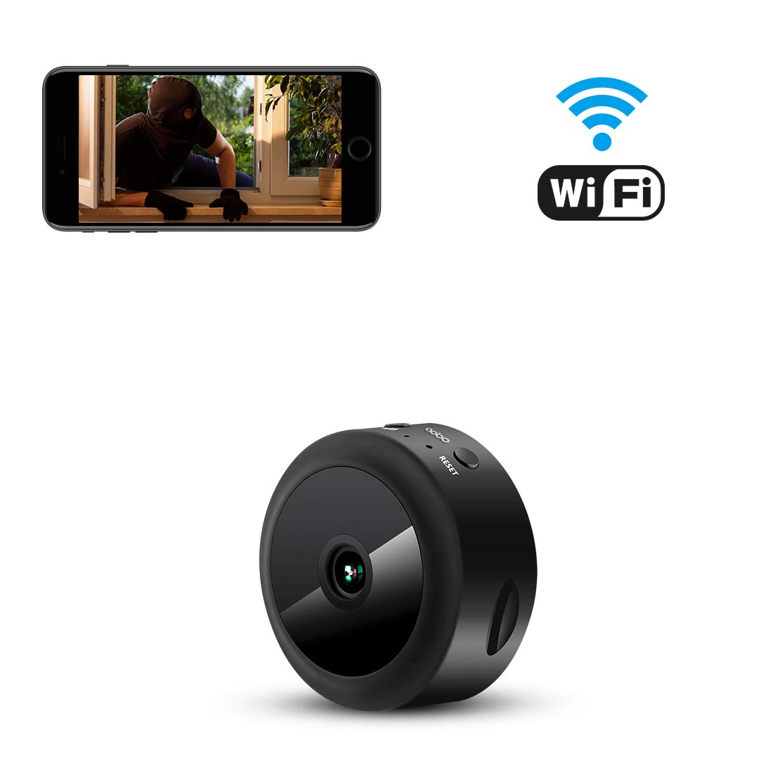 AOBO Spy Camera WiFi Hidden Camera Mini Wireless HD 1080P Indoor Home Small Spy Nanny Cam Security Cameras Battery…