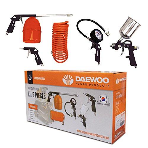 Daewoo 5149KIT5 Kit de Accesorios para compresor con 5 Piezas, Naranja