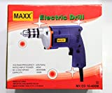 POWER MAXX 400W 10mm High Power Drill Machine Blue Drilling Wall Concrete Wood with 13pc Drill set & 5pc Masonary Drill Bit Set
