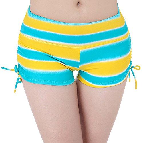 Short d'été maillot de bain, suivez les traces de la télévision sécurité pantalon yoga mouvement plage pantalons shorts cordon de serrage-YU&XIN Model 5