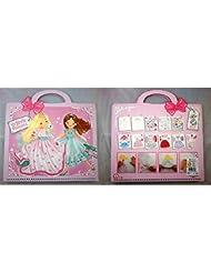 Libro para colorear con diseño de Top Model stickers Princess 24 x 28 cm