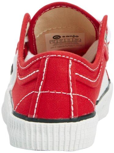 Sanjo K200 Jr, Baskets Basses Mixte Adulte Rosso (Red)