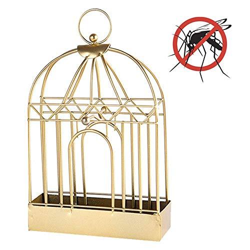 AA-SS-Mosquito Incense Moskito-Spulen-Halter Retro Eisen-Moskito-Spulen-Brenner-Weihrauch-Kasten-Sandelholz-Spulen-Gestell-dekorativer Brenner-Stand-Kasten (Gold) - Brenner Stand
