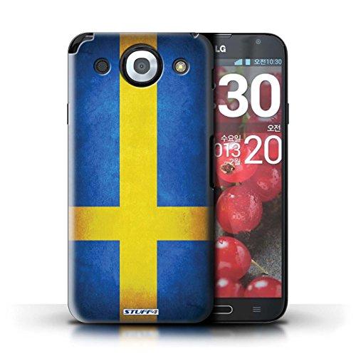 Kobalt® Imprimé Etui / Coque pour LG Optimus G Pro / Pays-Bas conception / Série Drapeau Suède/suèdois