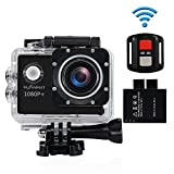 NEXGADGET WIFI 1080P 12MP Action Cam, DISCOVER-1012FS SERIE Wasserdichte Sportkamera 170 Grad Ultra...