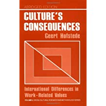 Culture's Consequences: International Differences in Work-Related Values (Cross Cultural Research and Methodology) by Geert Hofstede (1984-01-01)