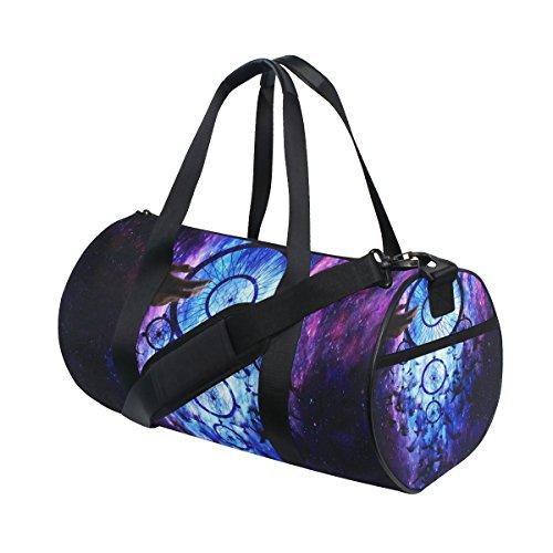 jstel Atrapasueños Galaxy bolsa de deporte gimnasio para hombres y mujeres bolsa de viaje de viaje