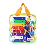 TOYMYTOY Il giocattolo di percussione degli strumenti musicali dei 15Pcs ha regolato con il sacchetto di trasporto