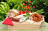 5 x XXL 50 cm Beech Board Serving/Cutting Board – Large Buffet and Breakfast Boards Set of 5 Natural – Classic Solid High Quality 15 mm Thick Picnic Wooden Board with Two Side Handles, with rounded edges Square – 50 cm x 29 cm As Bruschetta Serving Board, Bavarian Bread Board with Picnic Picnic Wood Handle New Solid Chopping Board Set of 6 BTV