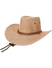 Gysad Cool Sombrero Vaquero Transpirable y cómodo Cowboy Hat Protector  Solar Sombrero Hombre Unisex Gorras 48b657684e6