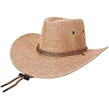 Gysad Cool Sombrero Vaquero Transpirable y cómodo Cowboy Hat Protector  Solar Sombrero Hombre Unisex Gorras 26a23a4a577