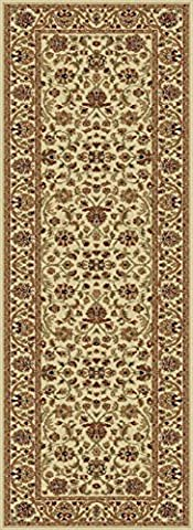 Universal Rugs Ventura Oriental Transitional Runner Accent Area Rug, Beige, 68 x 221 cm/2 x 8 ft