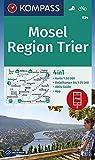 Mosel, Region Trier: 4in1 Wanderkarte 1:50000 mit Aktiv Guide und Detailkarten inklusive Karte zur offline Verwendung in der KOMPASS-App. Fahrradfahren. (KOMPASS-Wanderkarten, Band 834)