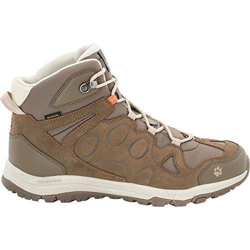 Jack Wolfskin Mens Rocksand Texapore Mid Light Waterproof Hiking Boots Rocky Brown