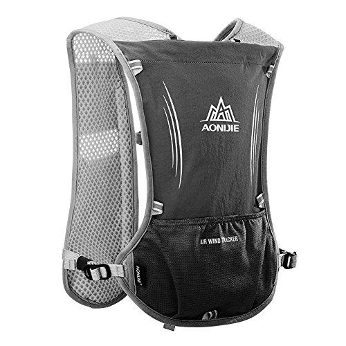 Imagen de aonijie  de hidratación ligera para actividades al aire libre, senderismo, ciclismo, con soporte para botella para bolsa de agua de 1,5 litros, negro