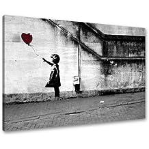 Cuadros en Lienzo Banksy 80 x 60 cm Nr. 4165 Cuadro abstracto