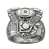 Motore V 2motore Harley Davidson anello in argento Sterling 925massiccio Beldiamo e Argento, 23,5, colore: Silver, cod. R0021-GJ