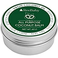 ReeBaby All Purpose Coconut Balm - for Diaper Rash, Cuts, Dry Skin and Stretch Marks, 60g