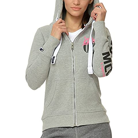 M.Conte Modelo Rachel Mujer chaqueta Sweat-Shirt Sudaderas Manga largos con capucha