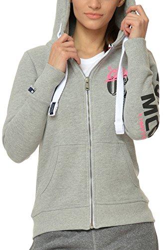 M.Conte Sweat-Shirt Sweater Rachel Donna Felpa con cappuccio Neve Grigio Taglia M