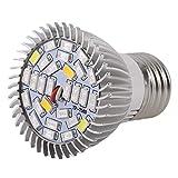 Zinniaya La pianta del LED coltiva la Luce Piena Spettro 8 / 28W E27 pianta Crescente Lampada idroponica per la Serra Interna Fiore Crescere Box