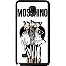 Fashionable Moschino Phone funda,Samsung Galaxy Note 4 Protective Plastic Phone funda,Moschino Cover for Samsung Galaxy Note 4
