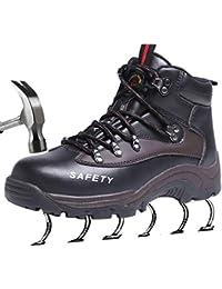 SUADEEX Mujer Hombre Zapatillas de Seguridad Botas con Puntera de Acero Impermeables Zapatos de Trabajo Entrenador Unisex Zapatillas de Senderismo