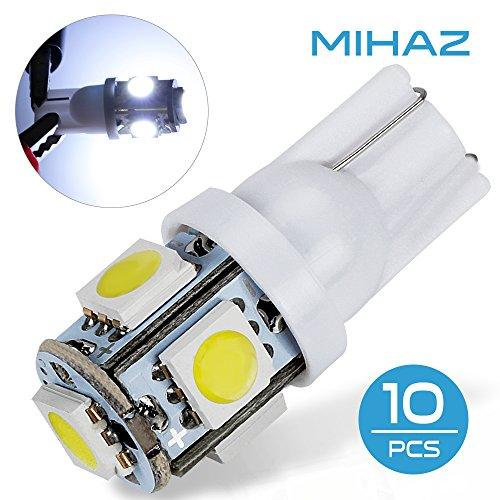 mihaz auto 10 pezzi bianco Auto lampadina LED T10 lampadine 194 168 2825 5SMD - Toyota Corolla Luce Di Parcheggio