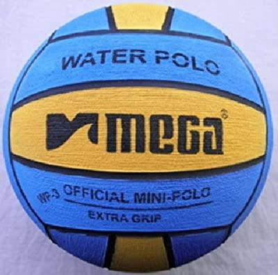 Mega agua bola de polo, tamaño 3, Blue-Yellow Mini bola de polo