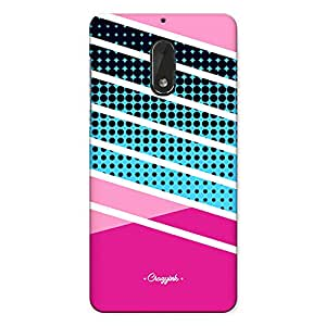 Nokia 6 Premium Stylish Printed Designer Hard Back Cover Case   Pink Halftone Stripes Design   Girlie   Colorful   Pattern   Scratch Proof   Lifetime Printing Guarantee   HD Printing Quality   Waterproof   Durable   Slim Light Weight   Matte Polycarbonate Plastic Case Cover   3 Side Edge to Edge Printing - Crazyink