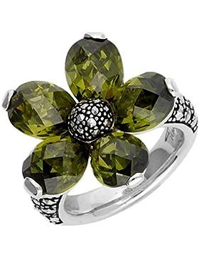 Thomas Sabo Damen Fingerring 925 Silber Silber/Grün TR1874-021-6