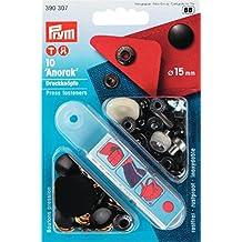 Prym Anorak 390307 - Botones a presión sin costura, fabricados en latón, de 15