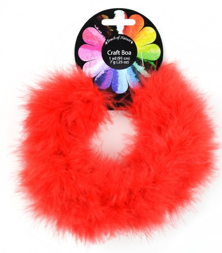 Red Marabou Feather Boa 36