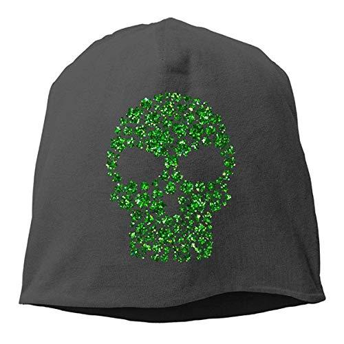 MLNHY Shamrock Skull St Patricks Winter Beanie Skull Cap Warm Knit Ski Slouchy Hat Durable