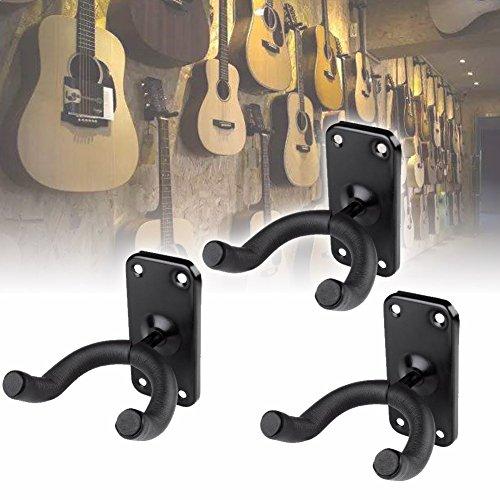 Preisvergleich Produktbild EMOTREE 3 Stücke Gitarrenhalter Wandhalter Gitarrenwandhalter Gitarrhalterung Stativ Ständer für Haus Studio 360° drehbar.