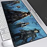 JINYIJUN Tapis de souris pour jeux vidéo, tapis de souris animé, tapis de souris Johnny Depp Jack Captain Caribbean Pirates Tapis de souris pour ordinateur de bureau 800 x 300 x 3 mm, 15, 800*300*3mm