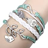 Five Season Infinity Armband, Mode Fraun PU Leder Gewebtes Wickelarmband Jahrgang Armreif Damen Schmuck Armband Dekoration von SamGreatWorld