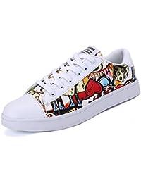 XIANV Segeltuch Schuh Plattformen schnüren sich oben Männer beiläufige Schuhe Mischfarben Mann Ebenen bequem