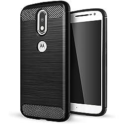 Motorola Moto G4 Cover,Motorola Moto G4 Plus Custodia,Lizimandu Creative 3D Schema UltraSlim TPU Silikon Shock-Absorption Copertura Della Cassa Del Custodia Case Tacsa Protettiva Shell per motorola moto g4/g4 plus(Nero/Black)
