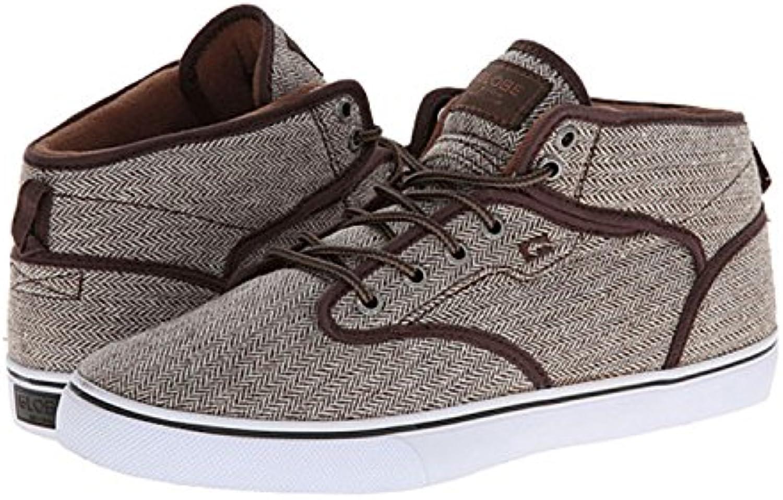GLOBE Skateboard Shoes MOTLEY MID BROWN HERRINGBONE Size 5  -