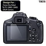 #5: Taslar Tempered Glass Screen Guard Protector for Canon Eos Rebel T6 T5 1200D / 1300D Digital SLR Camera (Transparent)