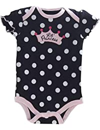 TOOGOO(R) New Fashion Baby Clothing Set Baby Girl Sets Romper+Tutu Skirt+Headband Newborn bebe Spring Summer Clothes-Black with polka dot,3M
